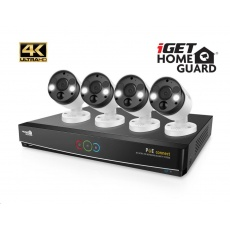 iGET HOMEGUARD HGNVK84904 - Kamerový systém s UltraHD 4K kamerami, IR LED, venkovní, set 4x kamera + rekordér