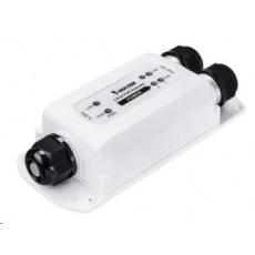 Vivotek PoE 802.3af Extender až na 100m, 1x 10/100 PoE In (max 95W), 2x 10/100 PoE out (max 70W). Není nutné externí nap