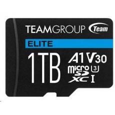 TEAM MicroSDXC karta 1TB ELITE A1 V30 UHS-I U3 + SD adapter