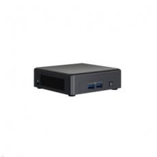 INTEL NUC Kit NUC11TNKv7, i7 Core 1185G7/2x8GB DDR4+500GB M.2 SSD/IrisXe/vPro/Win10/No EU power cord (Tiger Canyon)