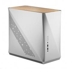 FRACTAL DESIGN skříň Era ITX, USB 3.1 Type-C, 2x USB 3.0, stříbrná, sv.dřevo, bez zdroje