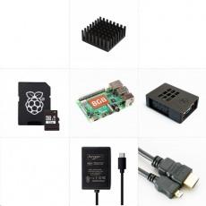 Raspberry Sada Raspberry Pi 4B/4GB Cooler Master (SDHC karta + adaptér, Pi4 Model B, CM krabička, HDMI kabel, zdroj)