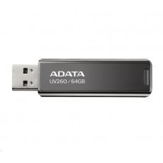 ADATA Flash Disk 32GB UV260, USB 3.2 Gen1,  Kovový ,černá