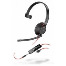POLY náhlavní souprava BLACKWIRE C5210, 3,5 mm jack, USB-C, mono