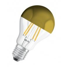 OSRAM LED STAR CL A Filament Mirror-Gold 4W 827 E27 420lm 2700K (CRI 80) 15000h A++ (Krabička 1ks)
