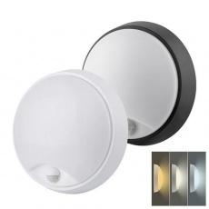 Solight LED venkovní osvětlení se senzorem a nastavitelnou CCT, 18W, 1350lm, 22cm, 2v1 - bílý a černý kryt