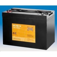 Baterie - CTM CTL 100-12 (12V/100Ah - M6), životnost 10-12let
