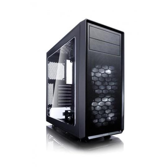 FRACTAL DESIGN skříň FOCUS G, Midi Tower, průhledný bok, Black, bez zdroje