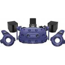 HTC Vive Pro Eye Virtual Reality Headset (Kit), Blue (VR glasses, Controller, built-in audio)