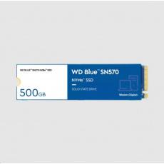 WD BLUE SSD NVMe 500GB PCIe SN 570, Gen3 8 Gb/s, (R:3500, W:2300MB/s)