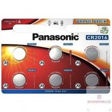 PANASONIC Lithiová baterie (knoflíková) CR-2016EL/6BP 3V (Blistr 6ks)