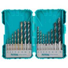 Total TACSDL11601 Vrtáky, kombinovaná sada, 16ks, 16ks vrtáků do železa, betonu a dřeva