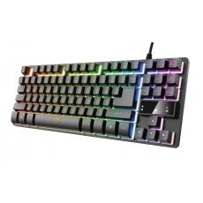 TRUST herní klávesnice GXT833 THADO, membránová, USB, CZ/SK