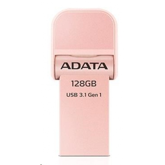 ADATA i-Memory Flash Disk 128GB AI920, USB 3.1, růžovo-zlatá