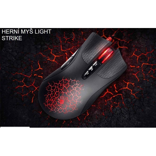 A4tech BLOODY A90 Blazing herní myš, až 4000DPI, V-Track  technologie, 160KB paměť, USB, CORE 2