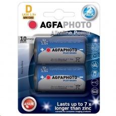 AgfaPhoto Power alkalická baterie LR20/D, blistr 2ks