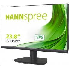 "Hannspree HS248PPB, 23,8"" LCD monitor, full HD 1920x1080, 16:9, HS-IPS panel, HDMI, DP, VGA"
