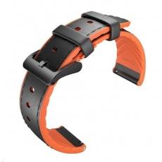 Ticwatch hybridní řemínek (černá-oranžová)