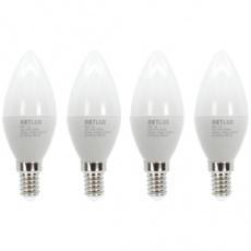 Sada LED žiaroviek CANDLE REL 25 LED C37 4x5W E14WW RETLUX