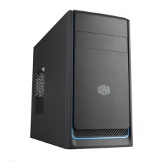 Cooler Master case MasterBox E300L, modrý rámeček, Micro-ATX, 2x USB 3.0, bez zdroje