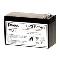 Baterie - FUKAWA FWU-2 náhradní baterie za RBC2 (12V/7,2Ah, Faston 250), životnost 5let