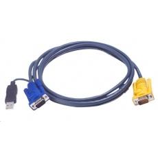 ATEN KVM sdružený kabel k CS-12xx, USB, 2m