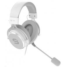 SilentiumPC sluchátka Gear Viro Onyx, Headset, herní, náhlavní, drátový, 53mm měniče, mikrofon, 3,5mm jack, bílá