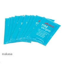 AKASA čistící ubrousky AK-TCW-02, 10 ks, indiv. balené, vhlčené, citrus, pro čištění procesorů, graf. karet