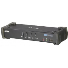ATEN 4-port DVI KVMP USB, 2port USB HUB, audio, 1.2m kabely