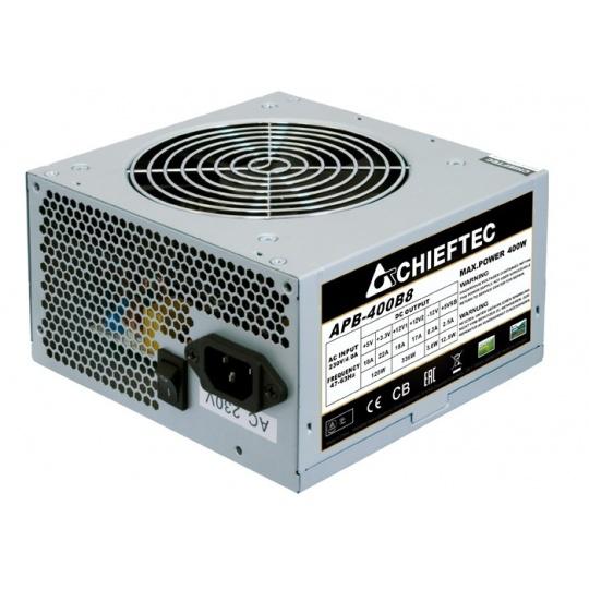 CHIEFTEC zdroj Value, APB-500B8, 500W, ATX-12V V.2.3 , PS-2 type with 12cm Fan, Active PFC, 230V