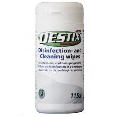 DESTIX Dezinfekční čistící utěrky MK75 v dóze (13x18cm, 115ks), bezalkoholová báze
