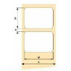 OEM samolepící etikety 60mm x 25mm, bílý papír, cena za 2000ks