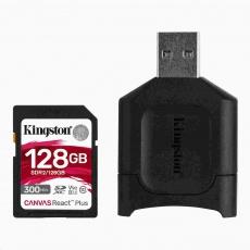 Kingston 128GB SDXC React Plus SDR2 + MLP SD čtečka - rozbaleno