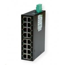 Roline Industrial Switch, 16x RJ-45, unmanaged, 10/100,16port, průmyslný