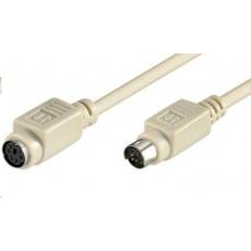 PREMIUMCORD Prodlužovací kabel PS/2(M) - PS/2(F) 3m (k PS/2 myši nebo klávesnici)
