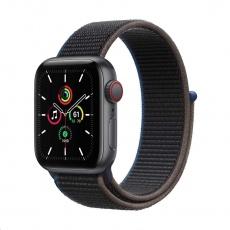 Apple Watch SE GPS + Cellular, 40mm Space Gray Alum. Case + Charcoal Sport Loop