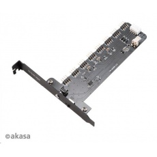 AKASA řadič Vegas RGB XL, 8 kanálů, PCIe slot
