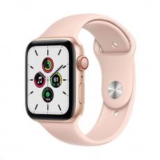 Apple Watch SE GPS + Cellular, 44mm Gold Alum. Case + Pink Sand Sport Band - Regular