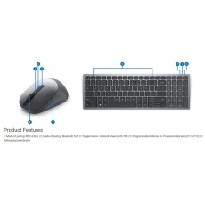 Dell Multi-Device Wireless Keyboard and Mouse - KM7120W - US International (QWERTY)