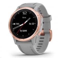 Garmin GPS sportovní hodinky fenix6S PRO Sapphire, RoseGold/Gray Band (MAP/Music)
