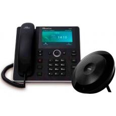 AudioCodes IP konferenční telefon UC-HRS-457 s externím reproduktorem, napájecí zdroj