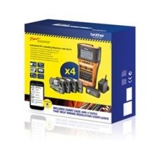 BROTHER tiskárna štítků PT-E550WVP - 24mm, WIFI, USB, mobilní, PROMO (tiskárna, adaptér, dobíjecí akumulátor + 4 pásky)