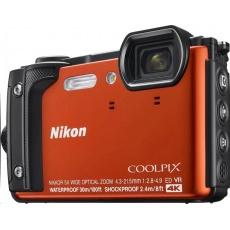 NIKON kompakt Coolpix W300, 16MPix, 5x zoom - oranžový + 2v1 plovoucí popruh