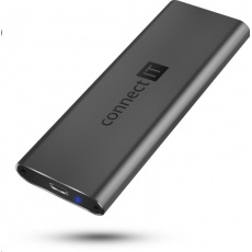 CONNECT IT AluSafe externí box pro SSD disky M.2 NVMe, 10 Gbps, USB-C, Antracitová