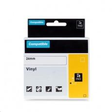 PRINTLINE kompatibilní páska s DYMO 1805431, 24mm x 5,5m, černý tisk / žlutý podklad, RHINO, vinylová