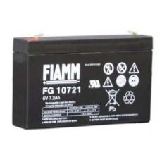 Baterie - Fiamm FG10721 (6V/7,2Ah-Faston 187), životnost 5let