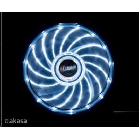 AKASA ventilátor Vegas 120x120x25mm, 1200RPM podsvícený, 15xLED, bílý