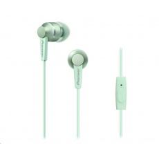 Sluchátka do uší-světle zelená-SE-C3T-GR