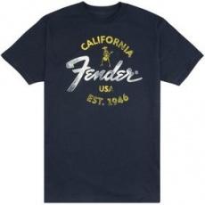 Hudobnícke oblečenie 919-0117-606 FENDER tričko Baja Blue XL