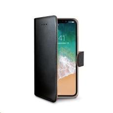 Celly pouzdro Wally s funkcí stojánku pro iPhone XS/X , černá
